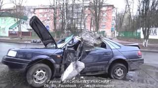 Очередная авария в районе автопарка, Васильков. Мэр Владимир Сабадаш обещает лежачие полицейские.