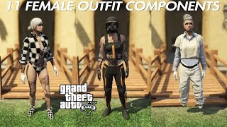 GTA V ONLINE 11 FEMALE OUTFIT COMPONENTS