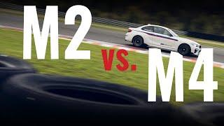 BMW M2 vs. M4 track drive comparison