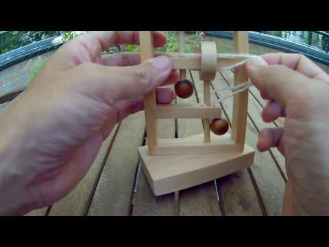 Wooden 3D Game Rope Puzzle Maze String IQ Mind Brain Teaser Solution