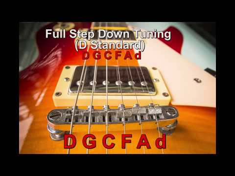 D Standard Tuning - Whole Step Down Guitar Tuning (D G C F A d) - Guitar Tuner
