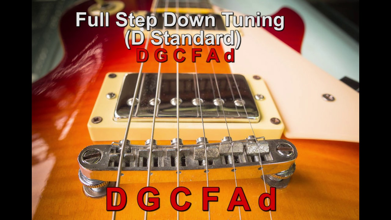 d standard tuning whole step down guitar tuning d g c f a d guitar tuner youtube. Black Bedroom Furniture Sets. Home Design Ideas