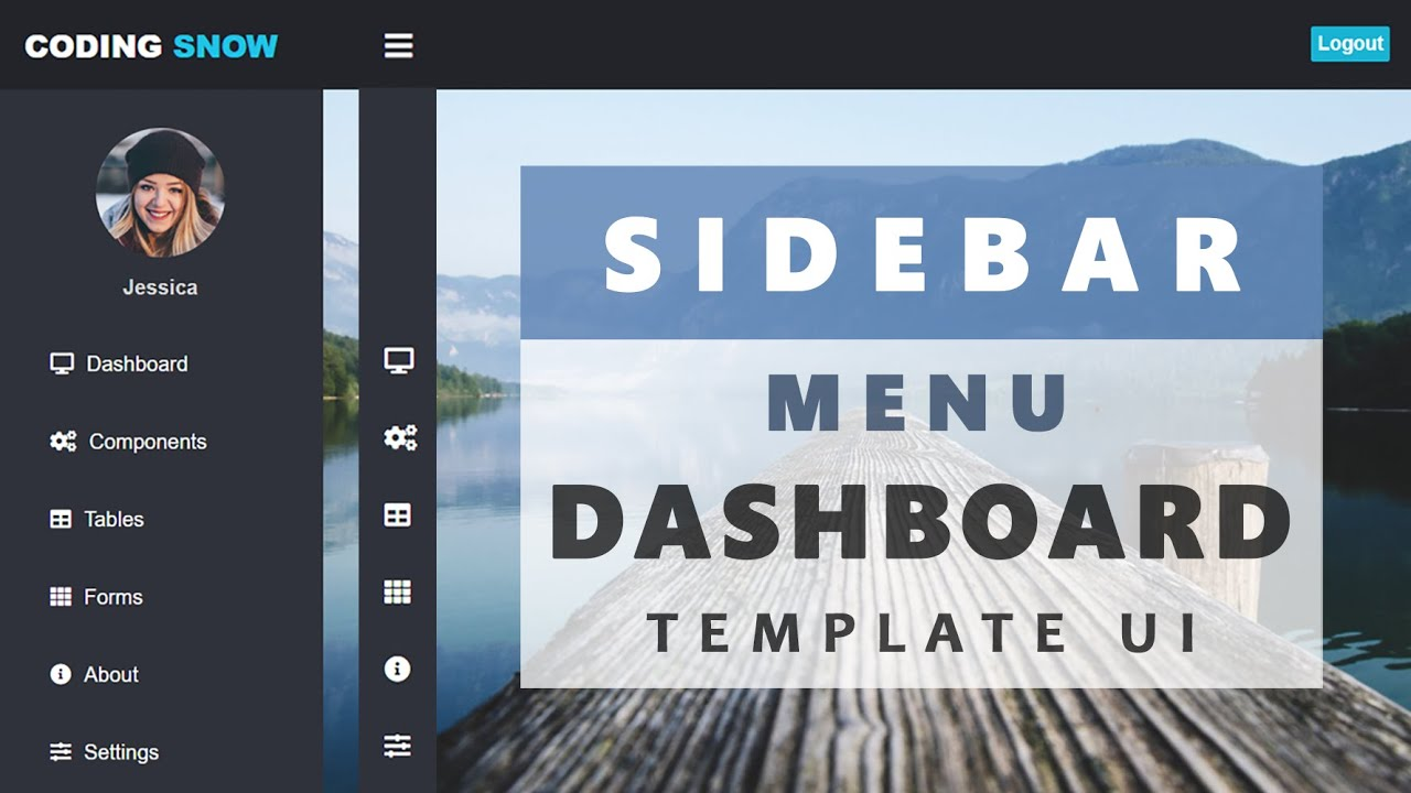 How to Design a Sidebar Menu Dashboard Template UI Using HTML and CSS