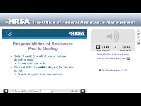 HRSA Reviewer Roles and Responsibilities