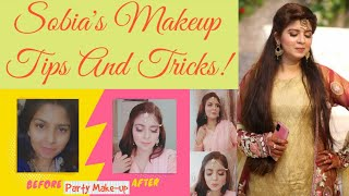 Party Makeup Look | Using Local Brands| Sobia's Makeup Tips And Tricks | By Sobia Khan | Tutorial |