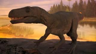 【恐竜動画】動く恐竜たち(ティラノサウルスなど)@福井恐竜博物館 thumbnail