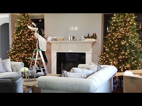CLEAN WITH ME: BASIC LIVING ROOM CLEANING + HOBBY LOBBY SHOP WITH ME CHRISTMAS  2017