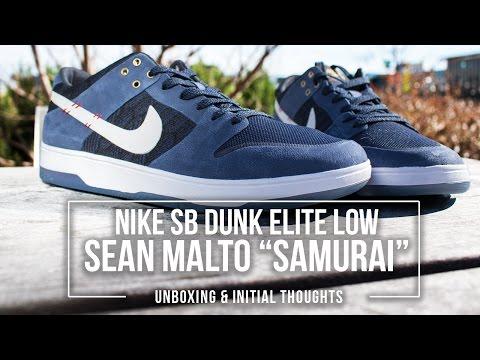 Nike SB Dunk Low Elite 'Sean Malto' Samurai Unboxing And Reaction