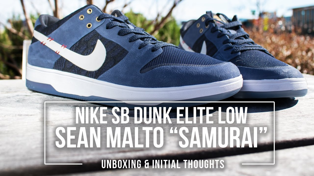 456898ae8fd Nike SB Dunk Low Elite  Sean Malto  Samurai Unboxing and Reaction ...