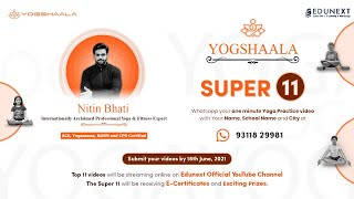 Yogshaala (A Free Online Yoga Camp for Students) : Day - 7