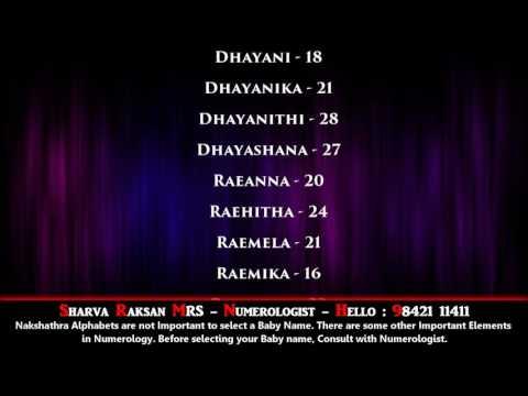 DIVNE CUTE GIRL NAMES - SWATHI NAKSHATHRAM-1 - BEST NUMEROLOGIST - SHARVA RAKSAN MRS - 9842111411