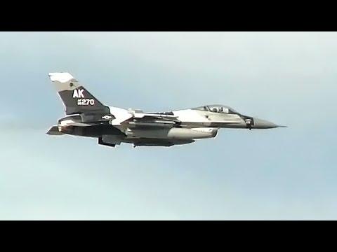 F-16 Aggressors Takeoff At Northern Edge