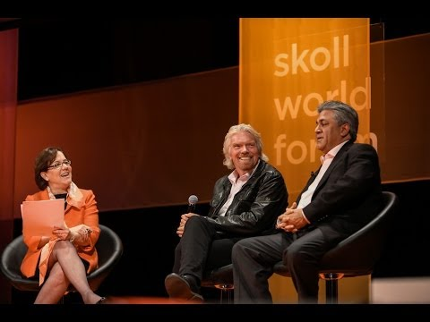Richard Branson and Arif Naqvi In Conversation with Mindy Lubber | Skoll World Forum 2014