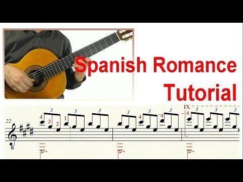 ♫♫ Spanish Romance- Guitar Tutorial (Score & TAB)