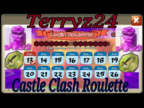 Castle Clash Roulette July 14th With Terryz24 , Merits , Shards , Honor Badges , Gems