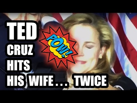 Thumbnail: Ted Cruz punches and elbows his wife after losing in Indiana... by accident.