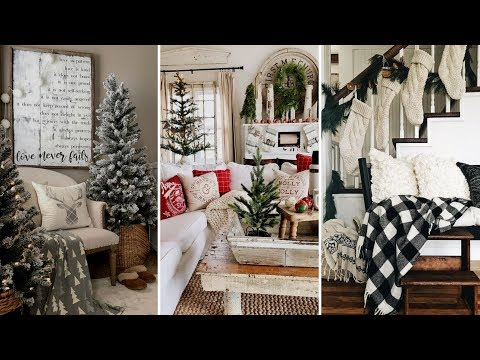 🎄DIY Rustic Farmhouse style Christmas living room decor Ideas| Christmas Home decor| Flamingo Mango