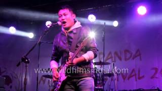Alobo Naga and the band live in Sikkim