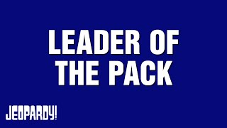Celebrity Jeopardy!: Aaron Rodgers takes the Leader of the Pack category