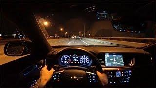 2018 Genesis G80 3.3T Sport RWD - POV Night Driving Impressions (Binaural Audio)