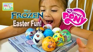 💧 Easter Egg Coloring Frozen vs My Little Pony! Fun Kids Acitvity