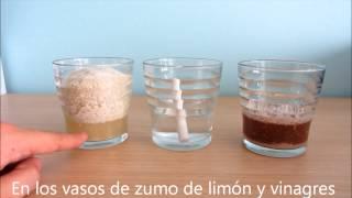 Experimento casero: tiza, limón y vinagre. Lluvia ácida