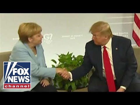 Trump meets with German Chancellor Merkel