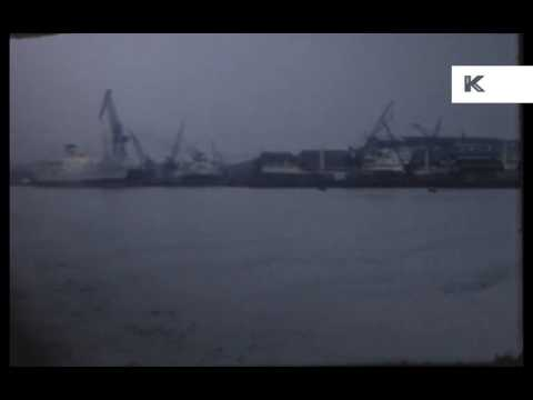 1960s POV From Boat Along River Tyne, Dock, Shipyard, Newcastle 8mm Home Movies