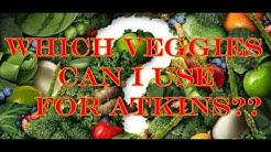 Atkins acceptable vegetable list