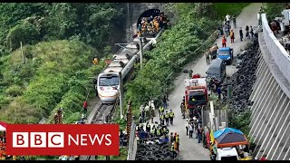 Dozens dead and hundreds trapped in Taiwan train disaster - BBC News