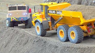 BIGGEST RC CONSTRUCTION SITE! VOLVO A45G IN DANGER! RC MODEL WORLD! MAZ 537 RC! VOLVO L250G