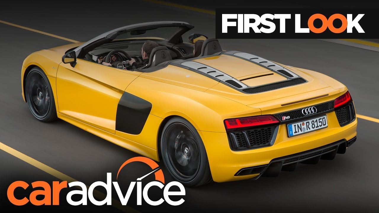 2017 Audi R8 V10 Spyder First Look Review | CarAdvice