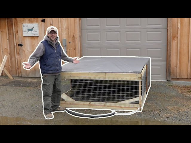 SIMPLE CHICKEN TRACTOR BUILD to GROW a YEARS Worth of CHICKEN!