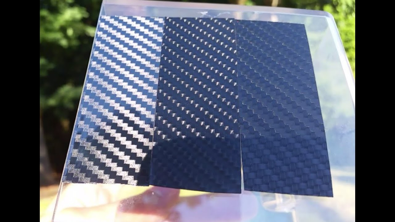 3d Vs 4d Vs Epoxy Gloss Black Carbon Fiber Vinyl Youtube