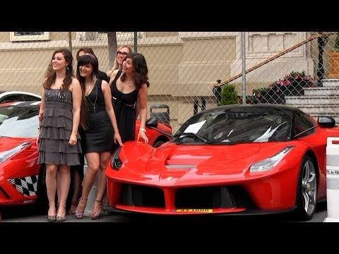 Ferrari LaFerrari's in Monaco! Guaranteed female attention :)