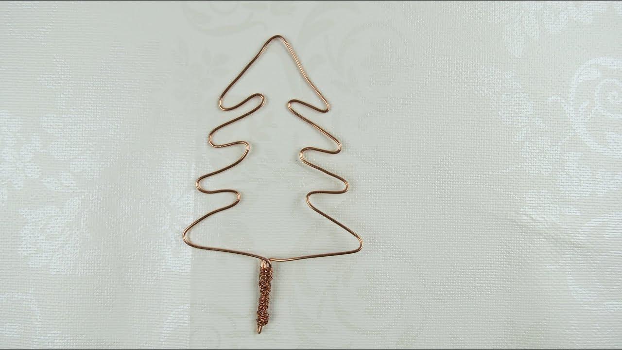 dekoration selbst basteln tannenbaum aus draht selber machen youtube. Black Bedroom Furniture Sets. Home Design Ideas