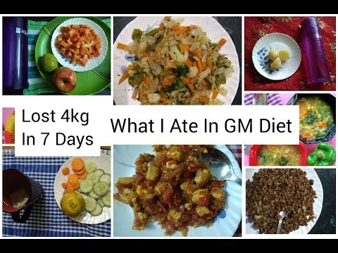 Lost 4Kg In 7Days || My Weight Loss Journey From GM Diet || What I Ate 7 Days