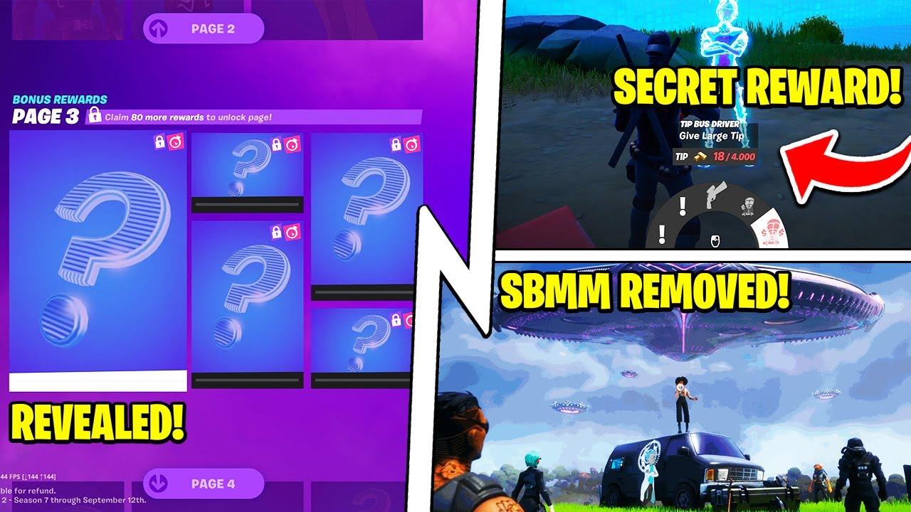 Fortnite SBMM Removed, Bus Driver Tip = REWARD, Secret SUPER SKINS!