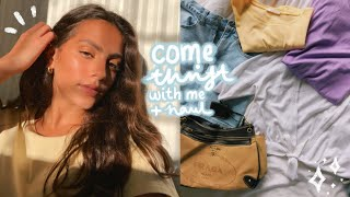 a very successful come thrift with me! + try on haul 🌟