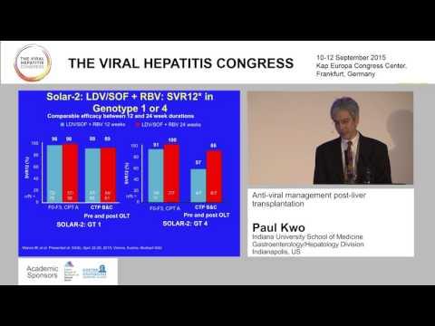 Anti-viral management post-liver transplantation Paul Kwo, Indianapolis, US