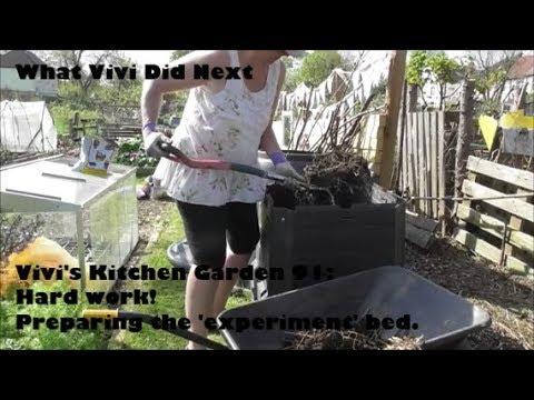 Vivi's Kitchen Garden 91: Hard work! Preparing the 'experiment' bed.
