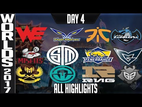 World Championship 2017 Highlights ALL GAMES Day 4 Groups - ALL Kills & Objectives Day 4 Worlds 2017