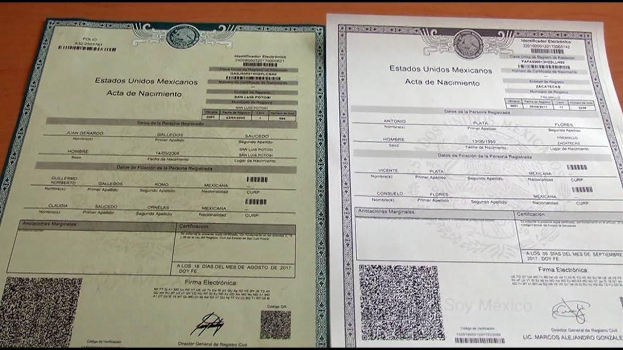 Moderno Cuánto Cuesta Un Certificado De Nacimiento Viñeta - Cómo ...