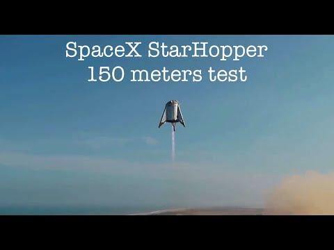 SpaceX провели успешный прыжок на 150 метров прототипа марсианского корабля Starship. Русские титры