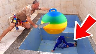İn The Pool BALLOON in SPRİTE PRANK! ONLY BALLOON Sprite hair KEREM'İN JOKE 1