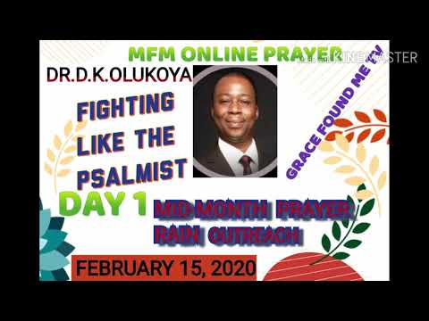 MFM (DAY 1) MID-MONTH | ONLINE PRAYER OUTREACH | DR.D.K.OLUKOYA