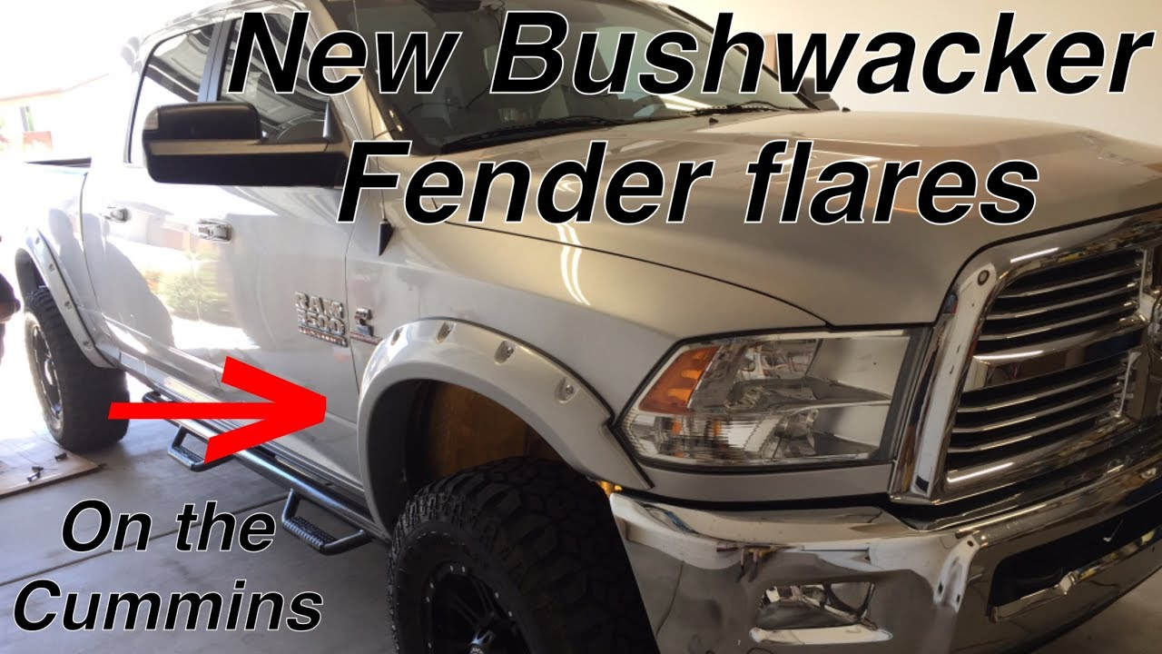 Dodge Mega Cab >> New Bushwacker Color-match Fender flares on the 2015 Ram 3500 Cummins - YouTube