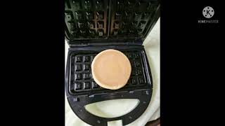 와플기계에 꿀호떡