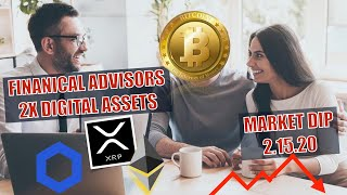 🔴BREAKING NEWS! Crypto Market DROPS! Financial Advisors For Institutions turn BULLISH + CHAINLINK 🚀