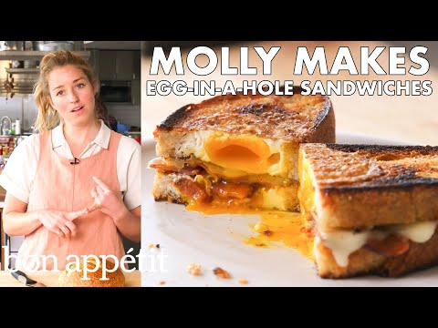 Molly Makes Egg-in-a-Hole Sandwich with Bacon and Cheddar   From the Test Kitchen   Bon Appétit